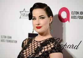 dita von teese arrives at the 2016 elton john aids foundation o party in west hollywood