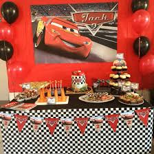 Lightning Mcqueen Birthday Party Disney Cars Party Dessert Table Cars Themed Food Lightning