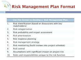 Project Schedule Management Plan Template Risk Management Plan Template Example Strategy Updrill Co
