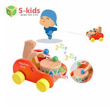 Đồ chơi cho bé 1 tuổi - Xe kéo đánh trống. Sản phẩm Đồ Chơi Gỗ an toàn