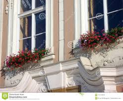 Flower Window Box Designs Red Flowers In Window Boxes Grand Prague Townhouse Czech