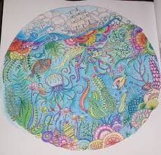 d finally finished my first page of my lost ocean coloring book d