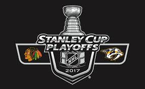 Image result for blackhawks vs predators game three logo