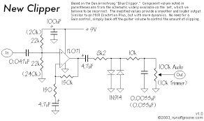 newclipper png first point of interest is the biasing network making these resistors equal will give a much more stable sound gone are the oscillations
