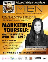 marketing yourself professional seminar mibn