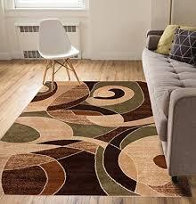calm chaos multi green modern casual geometric area rug 5x7 5 3 x