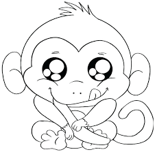 Monkey Coloring Page Laughing Monkey Coloring Page Monkey Coloring
