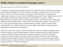 Technical Manager Cover Letter Top 5 Technical Manager Cover Letter Samples