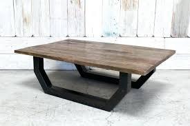 metal base wood top coffee table custom wood top coffee table w metal base round coffee