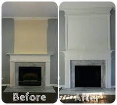 fireplace mantel extension simple but dramatic fireplace update