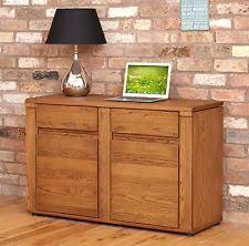 aston solid oak hidden. Grove Dark Oak Furniture Hidden Home Office PC Computer Desk Aston Solid