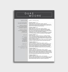 Mini Infographic Resume Layout Word Elegant Resume Template Docxv