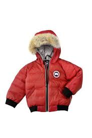 Baby Canada Goose Elijah Bomber Red outlet stores