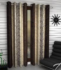 Home Sizzler Set of 2 Door Eyelet Curtains ...