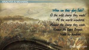 the charge of the light brigade by tennyson summary poem the charge of the light brigade by tennyson summary poem analysis meaning video lesson transcript com