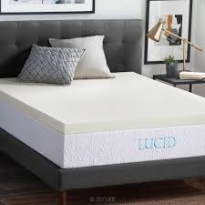 mattress topper queen. lucid 3 inch memory foam mattress topper - twin full queen king o