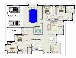 modern house floor plans with swimming pool floor plan 6 bedroom house trendy bedroom house plans