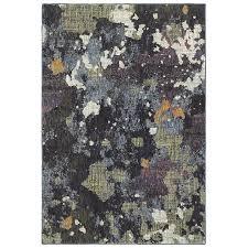 5 x 8 medium navy and green area rug evolution