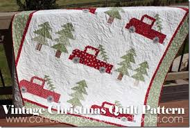 Christmas Quilt Patterns Extraordinary Vintage Christmas Quilt Pattern Confessions Of A Homeschooler