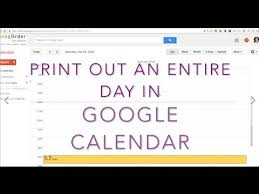 Schedule To Print Print Google Calendar How To Print A Single Days Schedule Onto