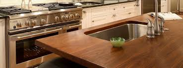 walnut kitchen island top with sink wood countertops with undermount sinks  gallery