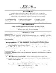 Administration Officer Sample Resume Gorgeous Investment Banker Resume Sample Monster
