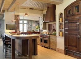 Kitchens With Wood Cabinets A Farmhouse Style Kitchen With Wood Cabinets An Onyx Counter