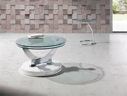 glass swivel coffee table modern angel cerda round glass swivel coffee table various colours glass coffee