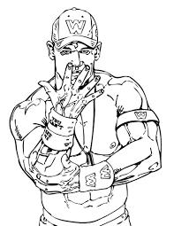 Wrestler John Cena Coloring Page Let