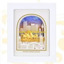 sydney opera house 3d gold foil leaf frame photo the luxurious home decorative picture