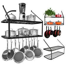kitchen iron shelf utensil hanging pot