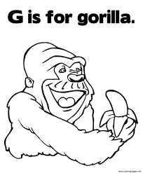 Coloring Pages Alphabet G Is For Gorilla Animal67ce Coloring Pages ...