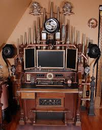 steampunk office. The Difference Between Good Steampunk And Bad Is That Re-imagines Contemporary Electronics As A Retro-futuristic Device, Office