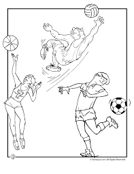 Summer Sports Colouring Pages Printable Coloring Page For Kids