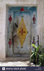 front door hangingsMorocco Tioute building detail front door ornaments brightly