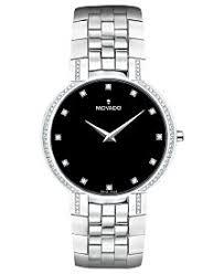 movado watches macy s movado men s swiss diamond 3 8 ct t w stainless steel bracelet watch