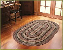 impressive oval kitchen rugs with braided area home design