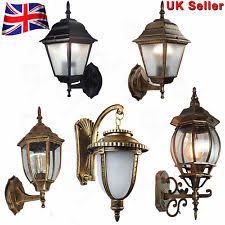 antique garden lights uk. outdoor wall lantern 4 sided aluminum garden light waterproof lamps /ip44 antique lights uk i