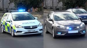 Police Car Lights Uk British Police Cars Responding Urgently Siren Lights