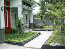 Home And Garden Designs Fascinating Modern Front Garden For Minimalist House