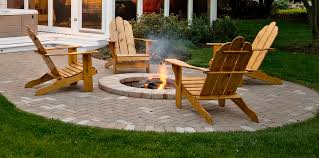 patio with fire pit. Patio With Built-In Fire Pit - Designed By Archadeck Of Chicagoland