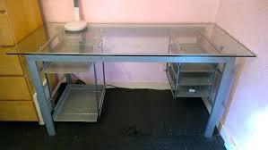 glass top computer desk desk glasetal corner computer desk black glass top metal pertaining glass top computer desk