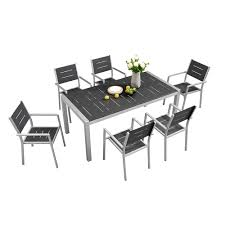 Patio dining outdoor leisure table and chair set modern garden furniture
