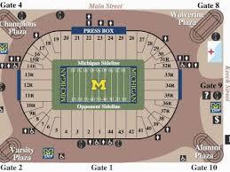 Seating Chart Michigan Football Stadium Michigan Stadium Seating Map Michigan Vs Wisconsin Football