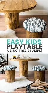 how to build a tree trunk table with