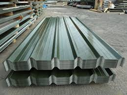 box profile corrugated tin roofing sheets for garage work metal steel roof