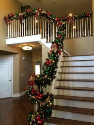 ... Banister Christmas Decorations Interiors Decor Of New Jersey Decoration  For Holidays Interior Wreaths Banister Wrap Wreath ...