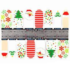 599 Yemannvyou2x14pcs 2 Vzor Loverly Karikatura Vánoční A Mickey Mouse Vzor Full Cover Nehty Samolepky