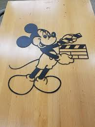 on mickey mouse metal wall art with mickey mouse clapboard metal wall art plasma cut sign decor
