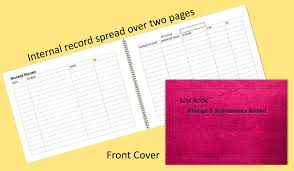 Mileage Book Vehicle Mileage Record Log Book Pink Leather Effect A6 A5